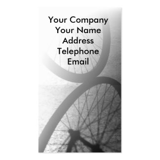 Bicycle Wheel Reflection Business Card Template
