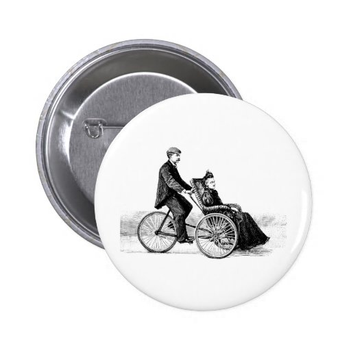 Bicycle Wheelchair - Vintage Victorian Bicycles Pinback Button