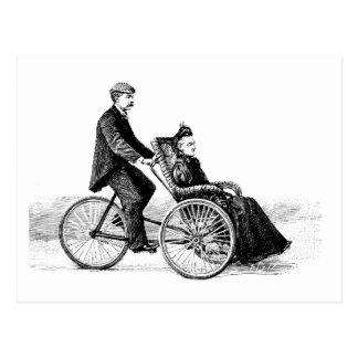 Bicycle Wheelchair - Vintage Victorian Bicycles Postcard
