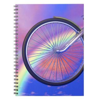 Bicycle Wheelie Spiral Notebook
