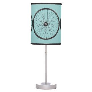 bicycle wheels desk lamp