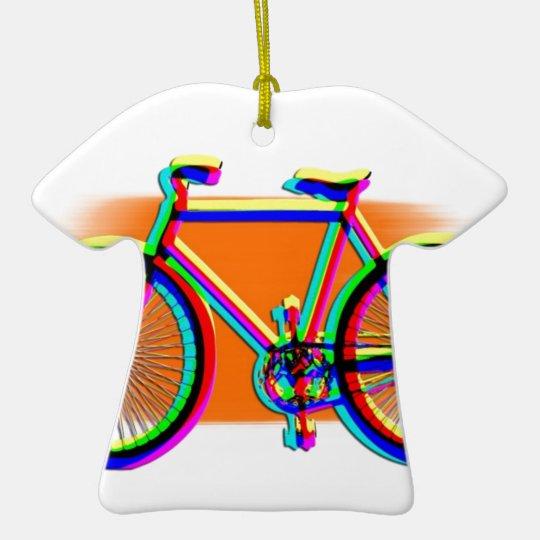 Bicycle Wheels Sport Family Friend Destiny Rainbow Ceramic Ornament