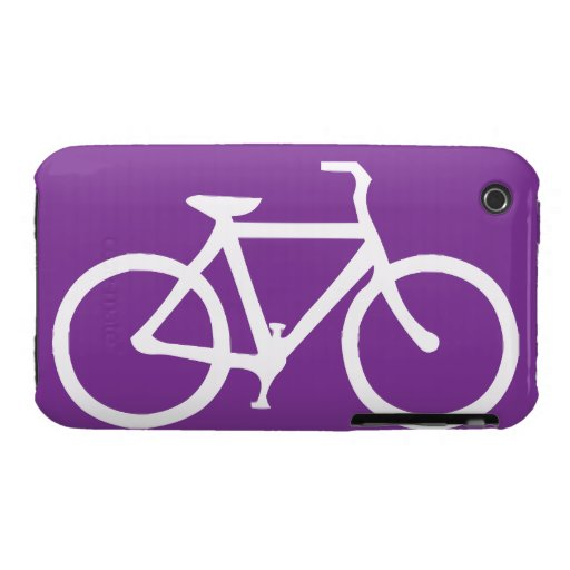 Bicycle: White on Purple Case-Mate iPhone 3 Case