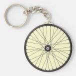 bicycle wire wheel basic round button keychain