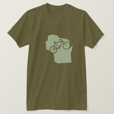 Beach Themed Bicycle Wisconsin t-shirt