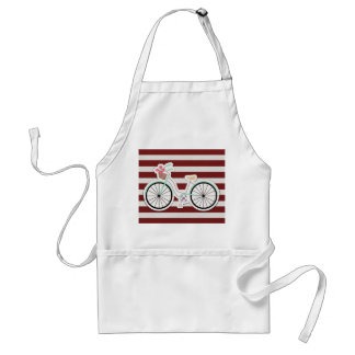Bicycle with Basket of Flowers Adult Apron