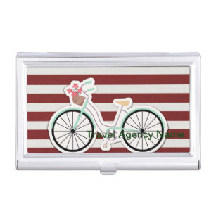 Bicycle business card holders cases zazzle bicycle with basket of flowers business card holder colourmoves Choice Image