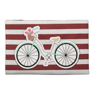 Bicycle with Basket of Flowers Travel Accessory Bag