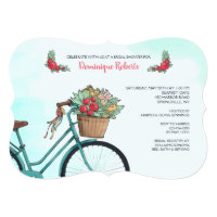 Bicycle With Flowers Invitation