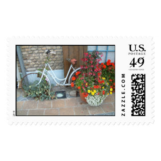 Bicycle with Flowers | Postage Stamps