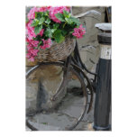 Bicycle with Flowers Poster