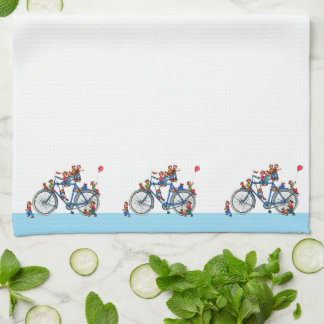 Bicycle with Kids Kitchen Towel