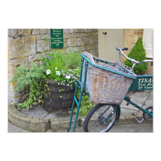 Bicycle With Shopping Basket  Invitation