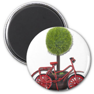 BicycleLeaningPottedTree121611 Refrigerator Magnets