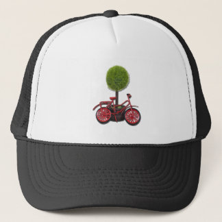 BicycleLeaningPottedTree121611 Trucker Hat
