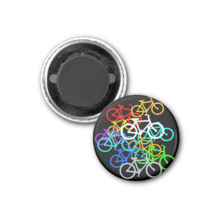 Bicycles 1 Inch Round Magnet