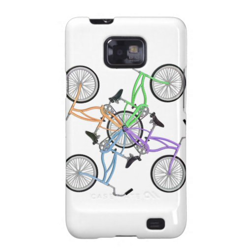 Bicycles! 4 different colored bikes interlocked galaxy SII covers