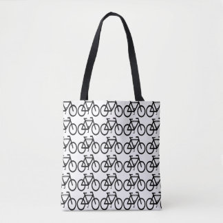 Bicycles Abstract Pattern Sports Tote Bag