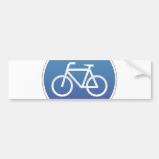 Bicycles allowed road sign bumper sticker