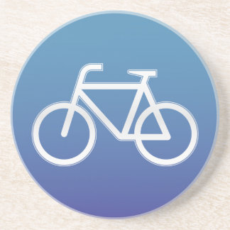 Bicycles allowed road sign coaster