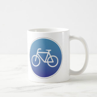 Bicycles allowed road sign coffee mug