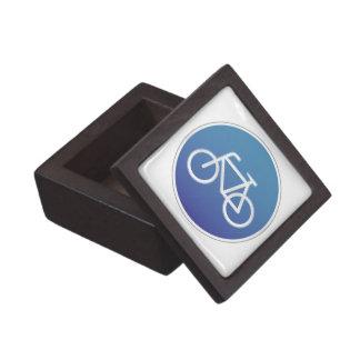 Bicycles allowed road sign keepsake box
