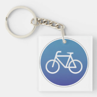 Bicycles allowed road sign keychain
