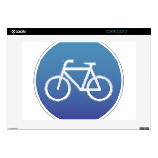 Bicycles allowed road sign laptop skins