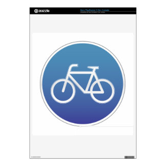Bicycles allowed road sign PS3 slim console skins