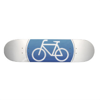 Bicycles allowed road sign skateboard deck