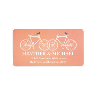 Bicycles and Birds Return Address Label