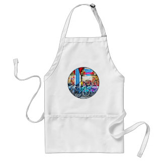 Bicycles and Chocolate Adult Apron
