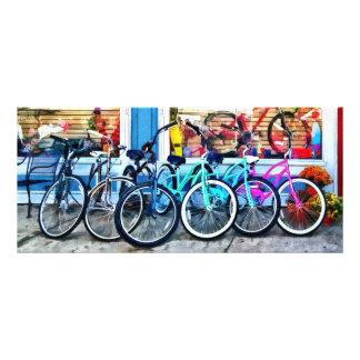 Bicycles and Chocolate Rack Card