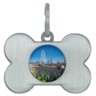 Bicycles And Dallas Pet Tag