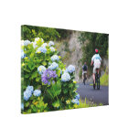 Bicycles and hydrangeas gallery wrap canvas