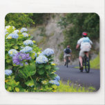 Bicycles and hydrangeas mouse pad