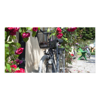 Bicycles and roses in Sweden Card