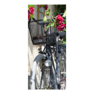 Bicycles and roses in Sweden Full Color Rack Card