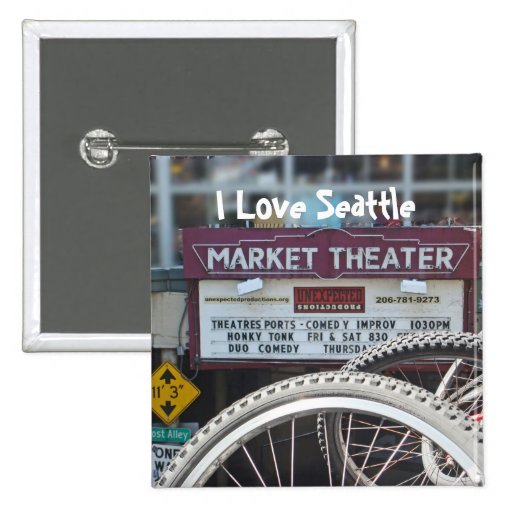 Bicycles at the Theater 2 Inch Square Button