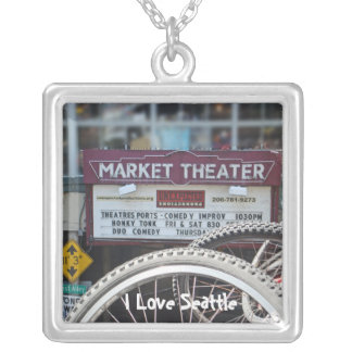 Bicycles at the Theater Square Pendant Necklace