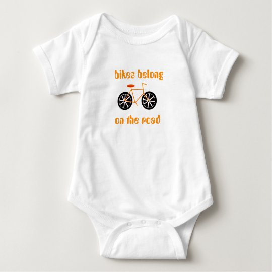 Bicycles Belong on the Road Baby Bodysuit