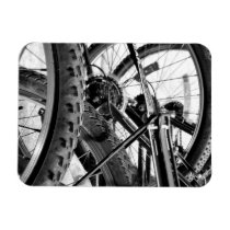 Bicycles Bike Tires Gears Chains Modern Pop Art Magnet