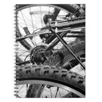 Bicycles Bike Tires Gears Chains Modern Pop Art Notebook
