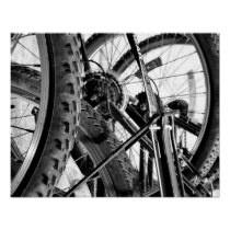 Bicycles Bike Tires Gears Chains Modern Pop Art Poster