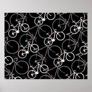 bicycles . biking . bikes poster