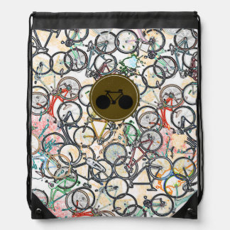 bicycles biking sport-themed cinch bags