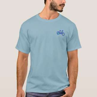 bicycles blue graphic art mandala T-Shirt