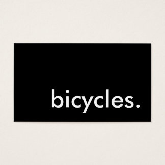 bicycles. business card
