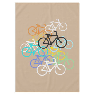 Bicycles...Choose your own background color. Tablecloth