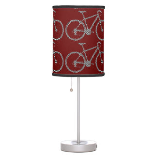 bicycles decor sport pattern table lamp